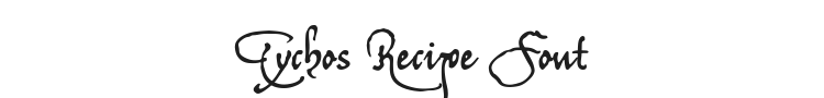 Tychos Recipe Font Preview