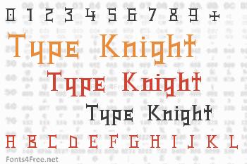 Type Knight Font