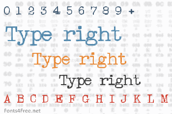Type right Font