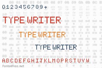 Type Writer Font
