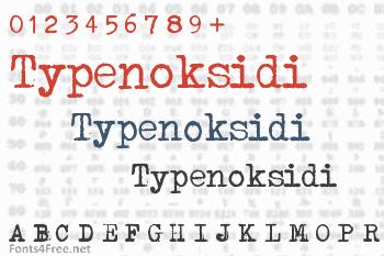 Typenoksidi Font
