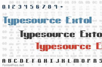 Typesource Extol Font