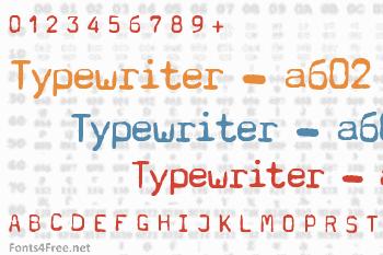 Typewriter - a602 Font