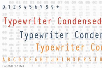 Typewriter Condensed Font