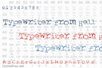 Typewriter from Hell Font