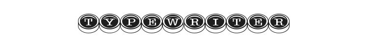Typewriter Keys Font Preview