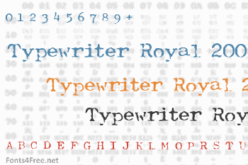 Typewriter Royal 200 Font