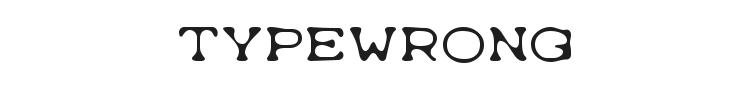 Typewrong Font