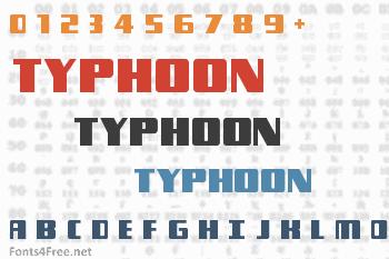 Typhoon Font