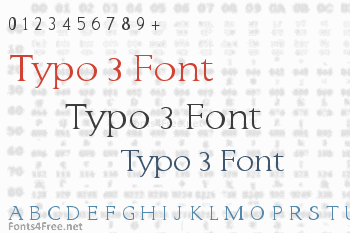Typo 3 Font
