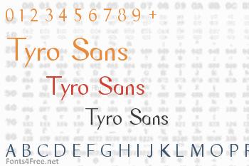 Tyro Sans Font