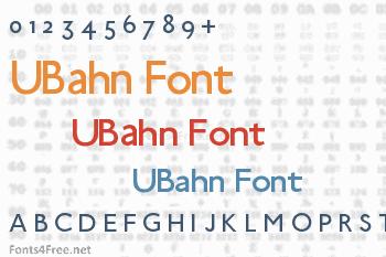 UBahn Font