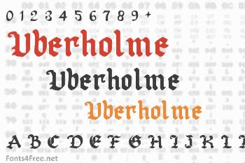 Uberholme Font