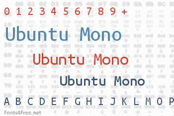 Ubuntu Mono Font