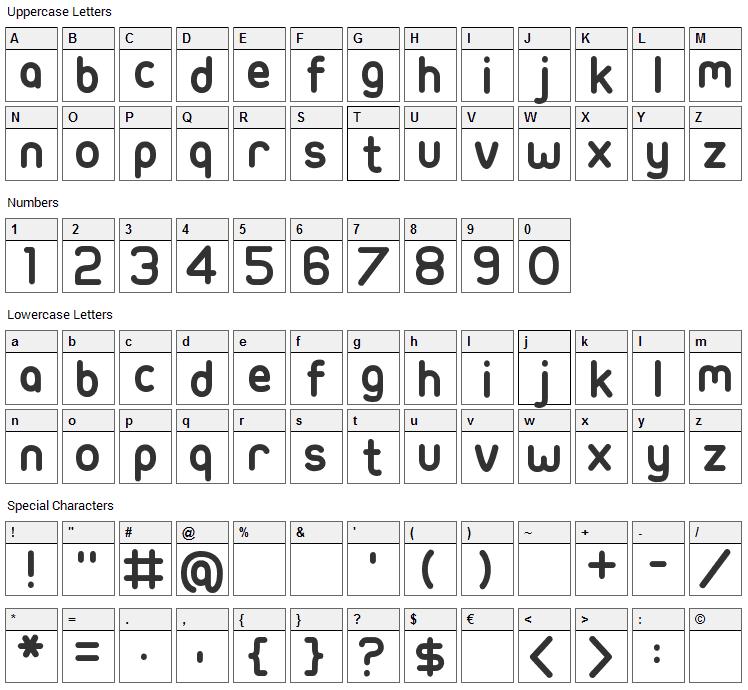 Ubuntu Title Font Character Map