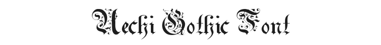 Uechi Gothic Font Preview