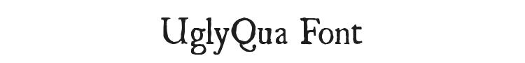 UglyQua Font Preview
