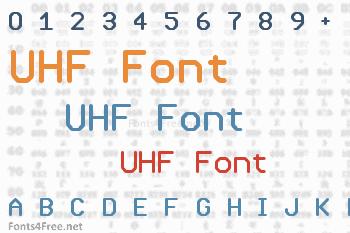 UHF Font
