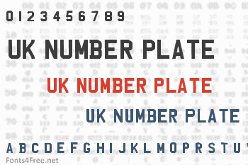 UK Number Plate Font