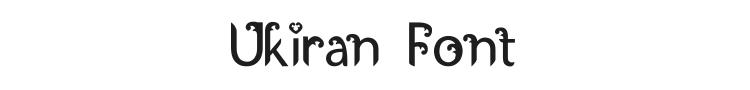 Ukiran Font Preview