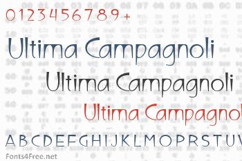 Ultima Campagnoli Font
