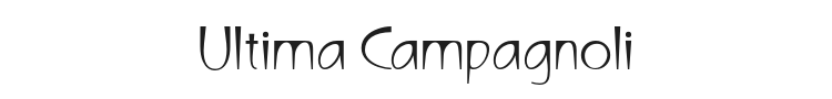 Ultima Campagnoli Font Preview