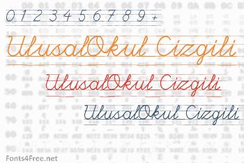 UlusalOkul Cizgili Font