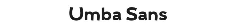 Umba Sans Font Preview