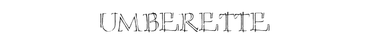 Umberette Font Preview