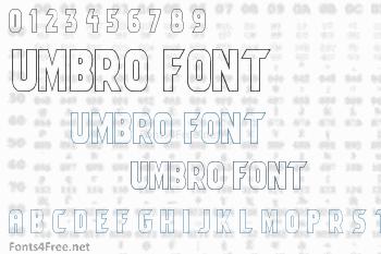 Umbro Font