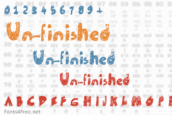 Un-finished Font