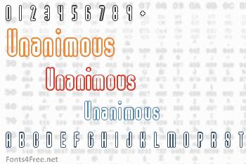 Unanimous Font