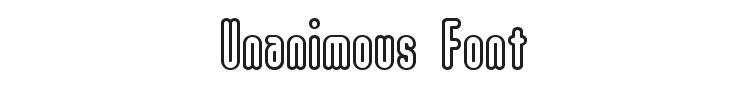 Unanimous Font Preview