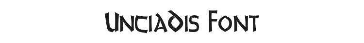 UnciaDis Font Preview