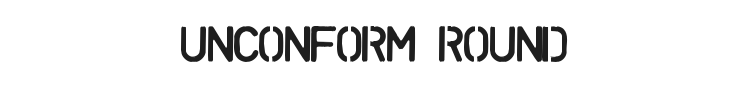 Unconform Round Font Preview