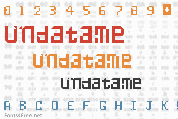 Undatame Font
