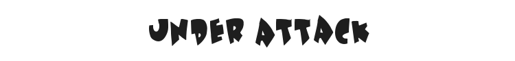 Under Attack Font Preview