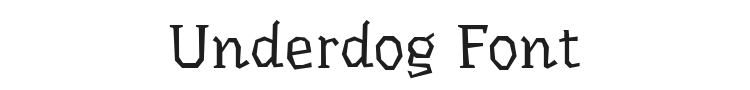 Underdog Font Preview