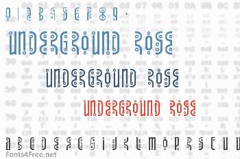 Underground Rose Font