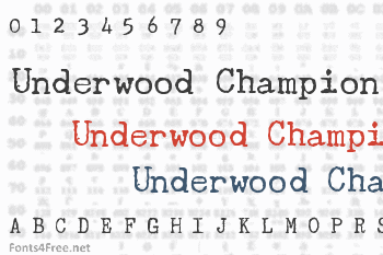 Underwood Champion Font