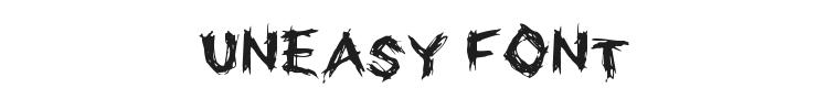 Uneasy Font