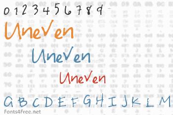 Uneven Font
