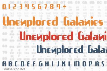 Unexplored Galaxies Font