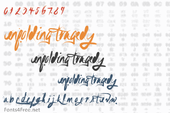 Unfolding Tragedy Font