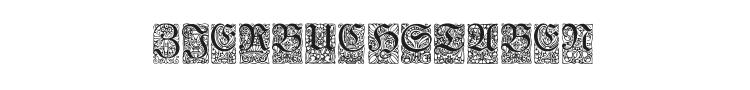 Unger-Fraktur Zierbuchstaben Font Preview