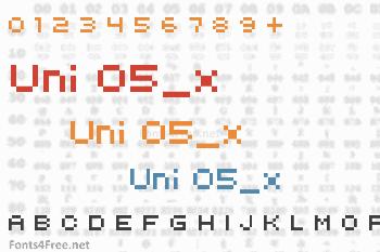 Uni 05_x Font
