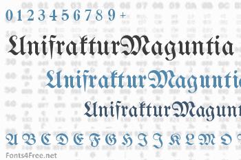 UnifrakturMaguntia Font