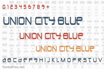 Union City Blue Font