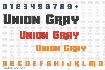 Union Gray Font