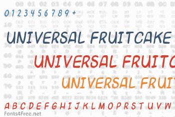 Universal Fruitcake Font